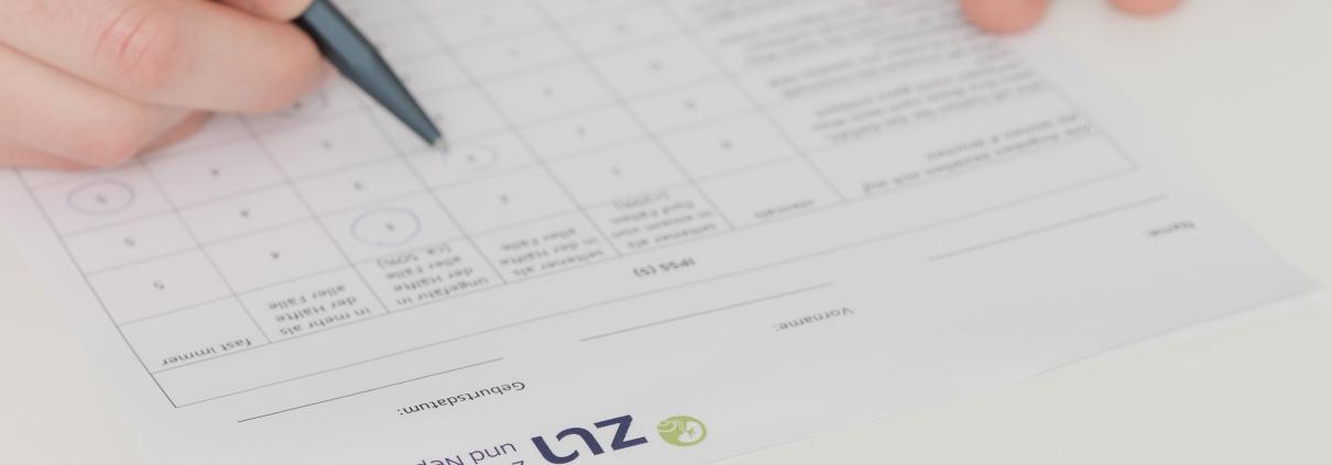 ZUN - Zentrum für Urologie und Nephrologie, Bern - Symbolbild Fragebogen für Patienten